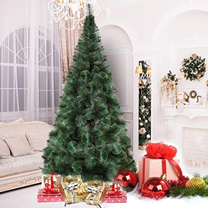 Amazon Com Luckyermore 8 Ft Modern Christmas Tree 460 Tips Full Pet