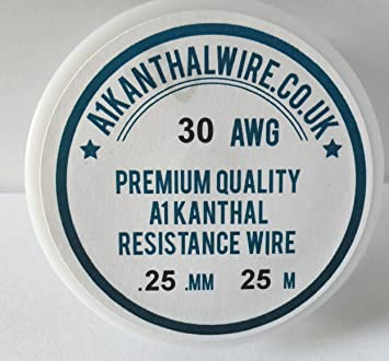 Kanthal A1 Typ Widerstand Draht – (30 AWG) 0,25 mm – 25 Meter Spule ...