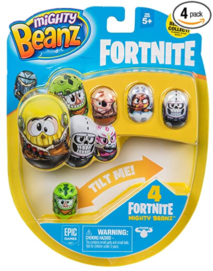 MIGHTY BEANZ, Fortnite 4 Pack (Styles May Vary) Toy, 1