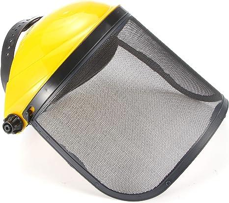 SmartHitech Casco de Seguridad de Malla con Visera M/áscara de Visera Ajustable para Tala y Jard/ín de Poda Protecci/ón Auditiva y Facial Completa