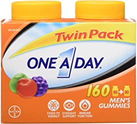 ONE A DAY Men's Gummies, Twin Pack, 160 Count