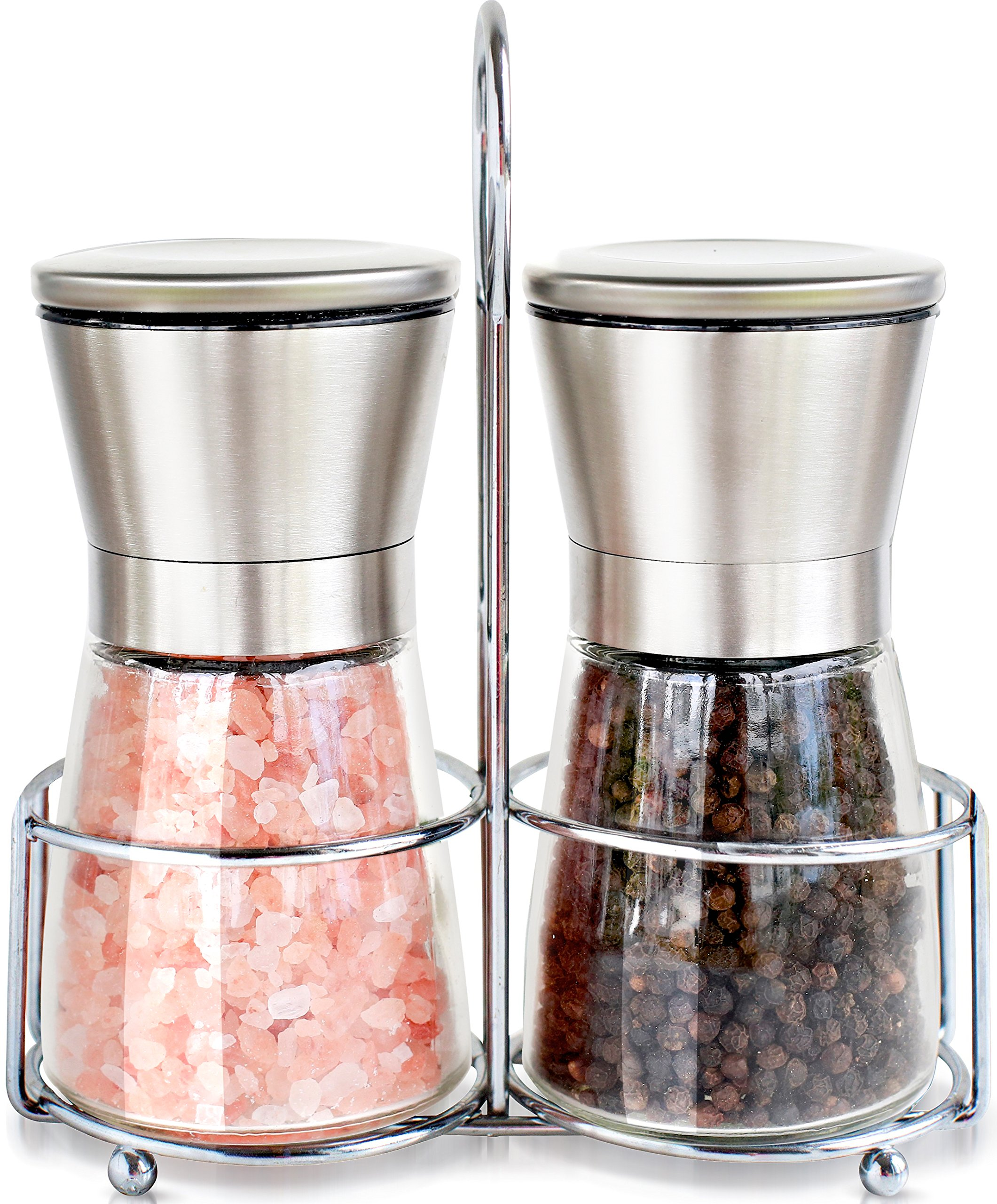 cheerful cool salt and pepper shakers. Premium Stainless Steel Salt and Pepper Grinder Mills Set With Stand  Shakers Best Rated in Sets Helpful