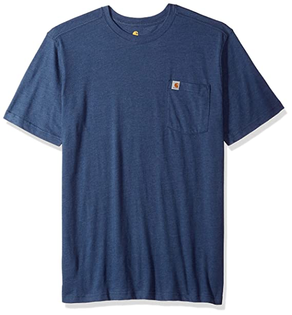 aa79915536 Carhartt Men's Big & Tall Maddock Pocket Short Sleeve T Shirt