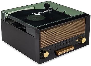 ClearClick Tocadiscos Todo en uno con Reproductor de CD ...