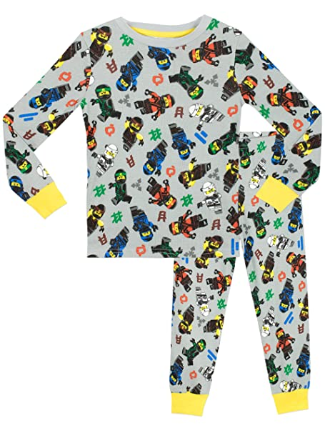 Lego Ninjago - Pijama para Niños - Lego Ninjago - Ajuste Ceñido - 10 a 11