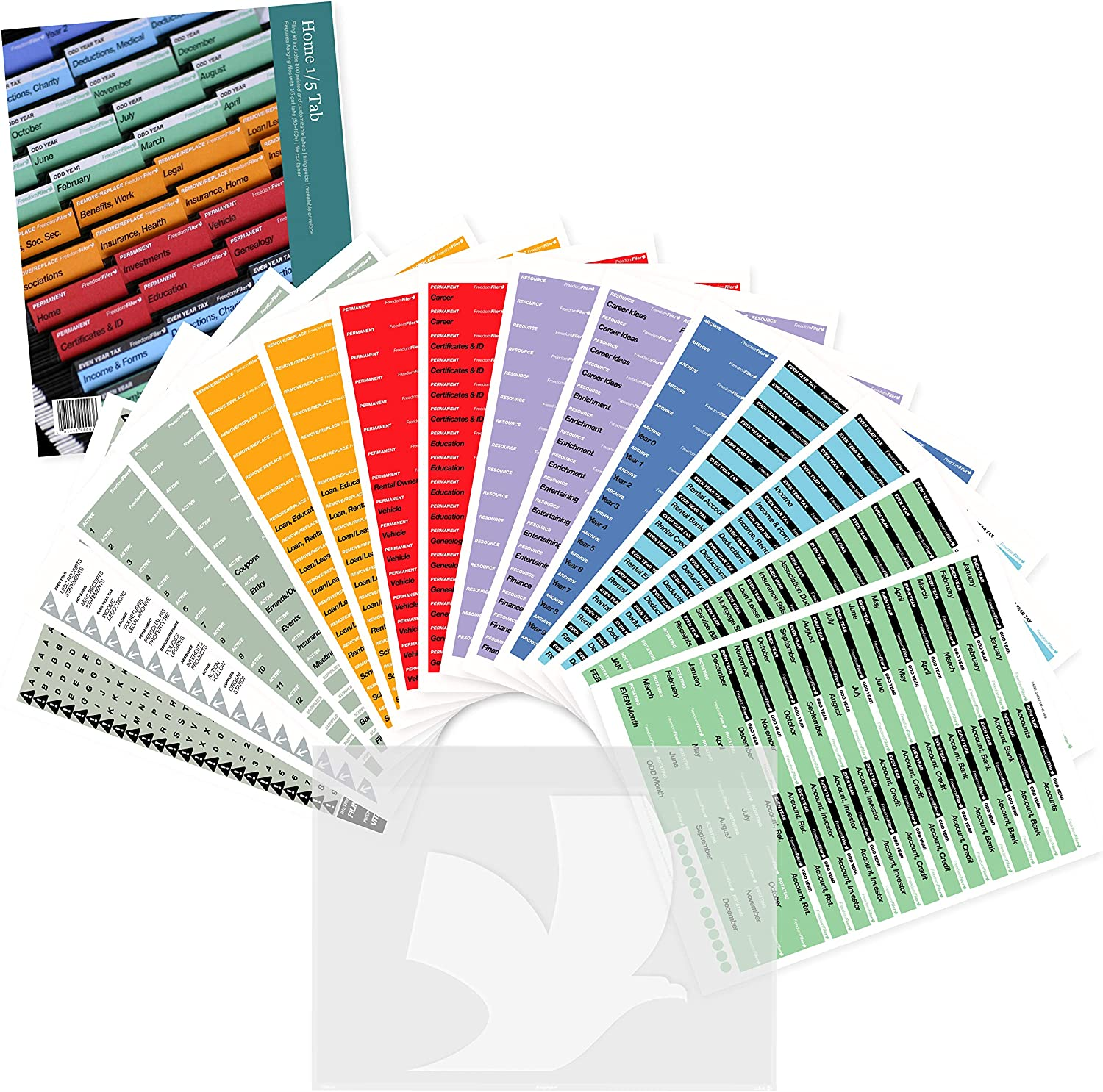FreedomFiler Home Filing Kit 1/5 Tab