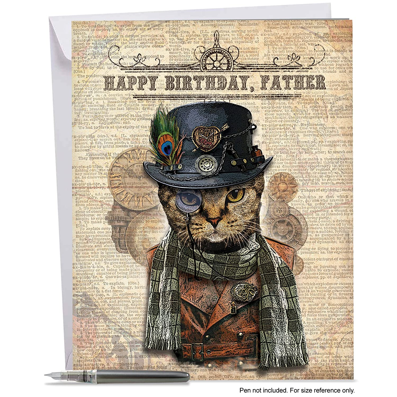 Amazon Stylish Happy Birthday Card To Father 85 X 11 Big