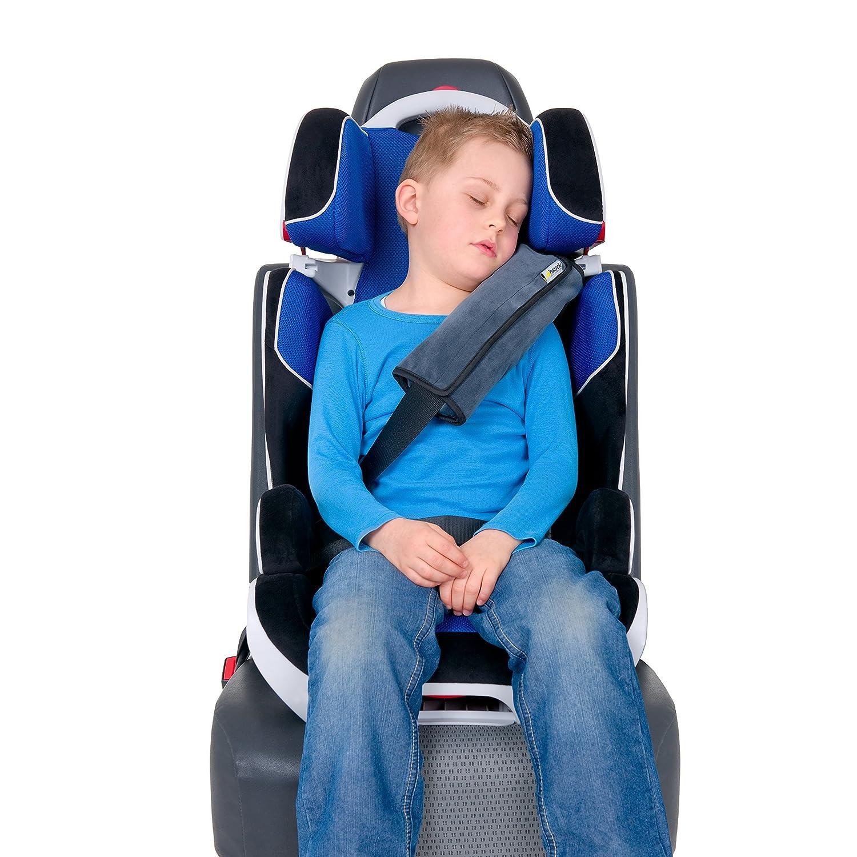 Cuscino Ovetto 2 Pezzi Cuscino Supporto Testa Grigio 28 x 10 x 7 cm Hauck Cushion Me Cuscino Cintura Sicurezza Bambini e Adulti Sicurezza in Auto