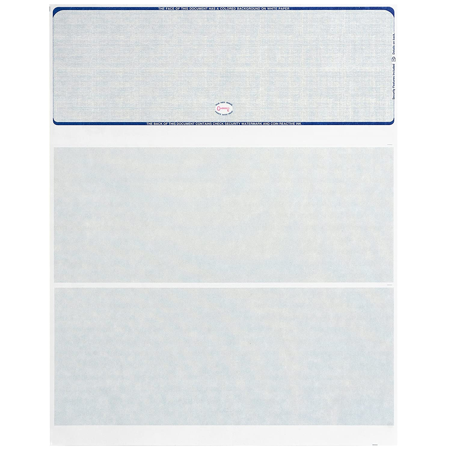 photograph relating to Printable Checks for Quickbooks named 500 Blank Look at Inventory- Established for Protected Personal computer Published Tests with Quickbooks, and excess - Blue Linen Behavior- 500 Sheets - 8.5 x 11