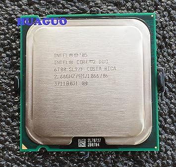 Intel Core 2 Duo E6700 2,66 gHz Dual-Core CPU procesador sl9s7 sl9zf