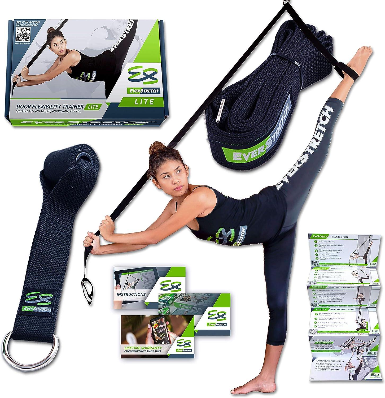 EverStretch Stretching Piernas: Más Flexible con el Entrenador de flexibilidad para Puertas, Equipo Estiramiento Lite para Ballet, Danza, MMA, ...