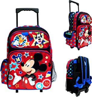 7b1fa08a3c0 Amazon.com  Disney Mickey Mouse Rolling Backpack with Detachable ...