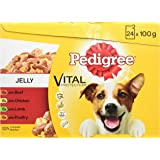 Pedigree  Puppy Pouches Meat Selection in Jelly, 24 x 100 g - Pack of 2 (Total 48 Pouches)