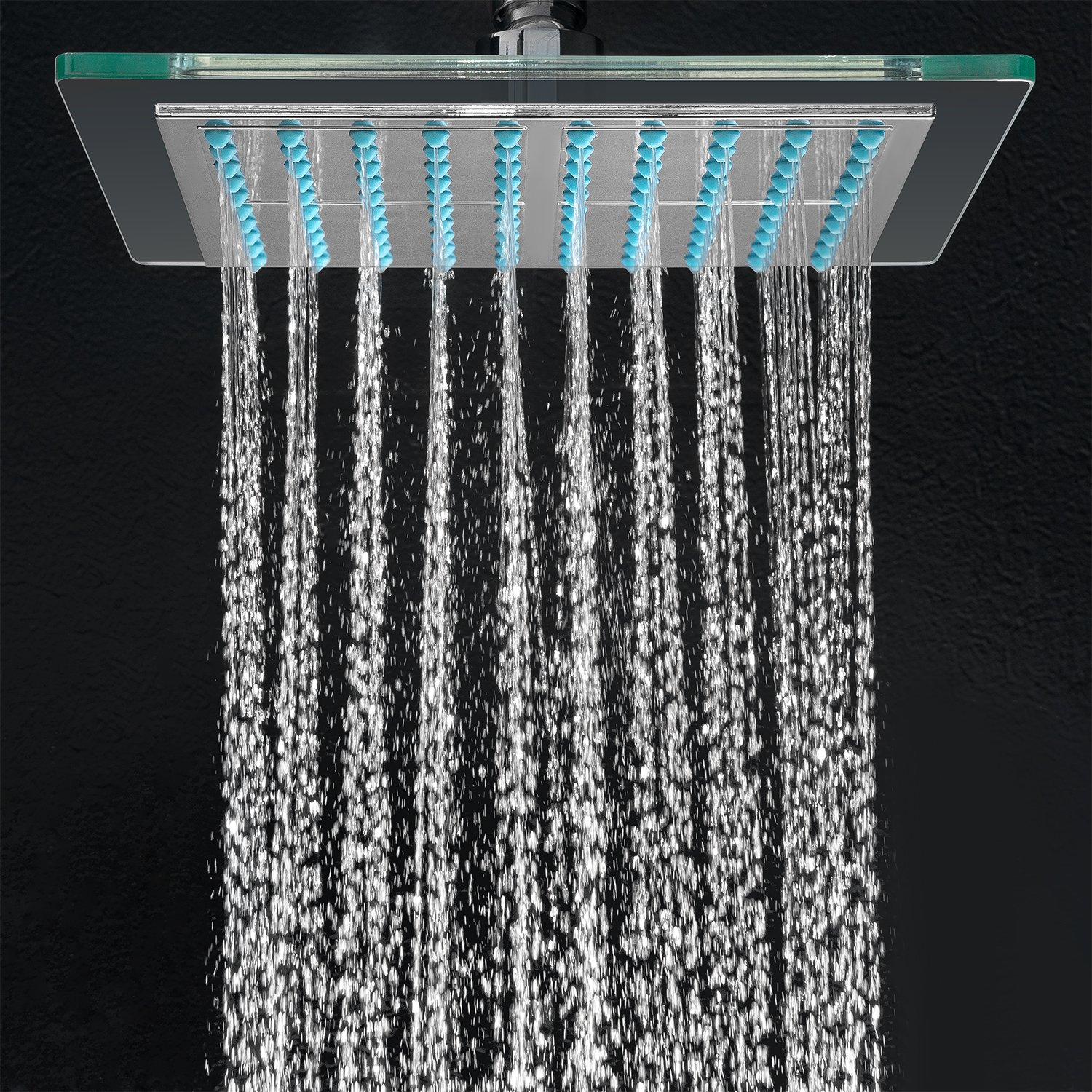 AKDY AZ-6021 Bathroom Chrome Shower Head, 8-inch - Fixed ...