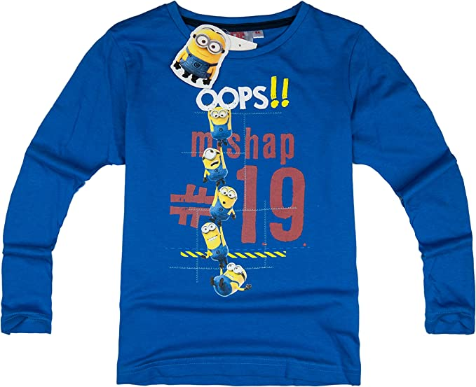 MINIONS Official Licensed Despicable ME 2 Dave Long Sleeve Tee Top T Shirt for Kids Boys