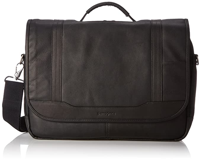 Samsonite Colombian Leather Flapover Briefcase 8c2ae3cf65bd1