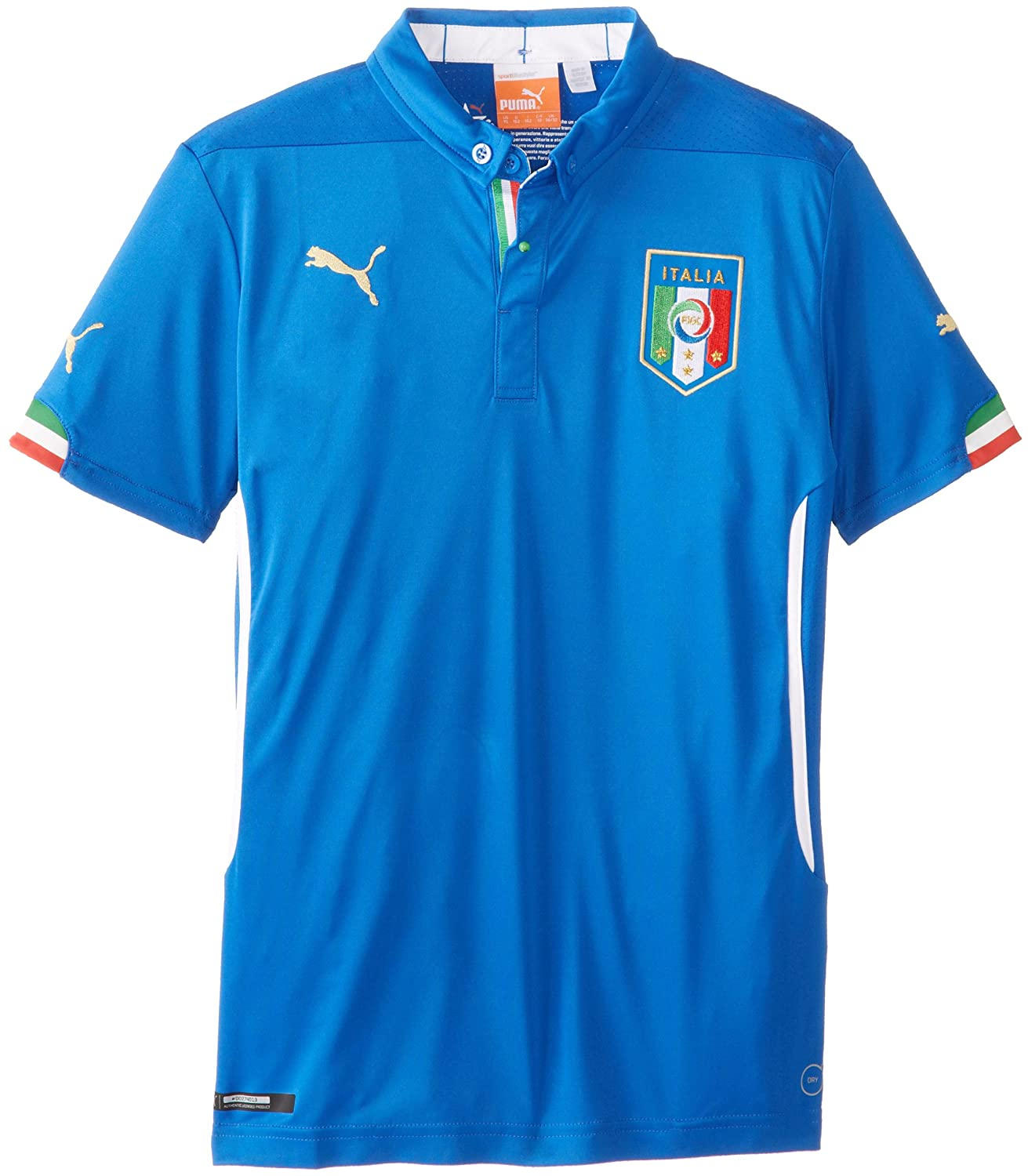 faed71f2a7d Amazon.com  Puma Boy s Italia Home Replica Soccer Jersey  Clothing