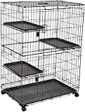 AmazonBasics Large 3-Tier Cat Cage Playpen Box