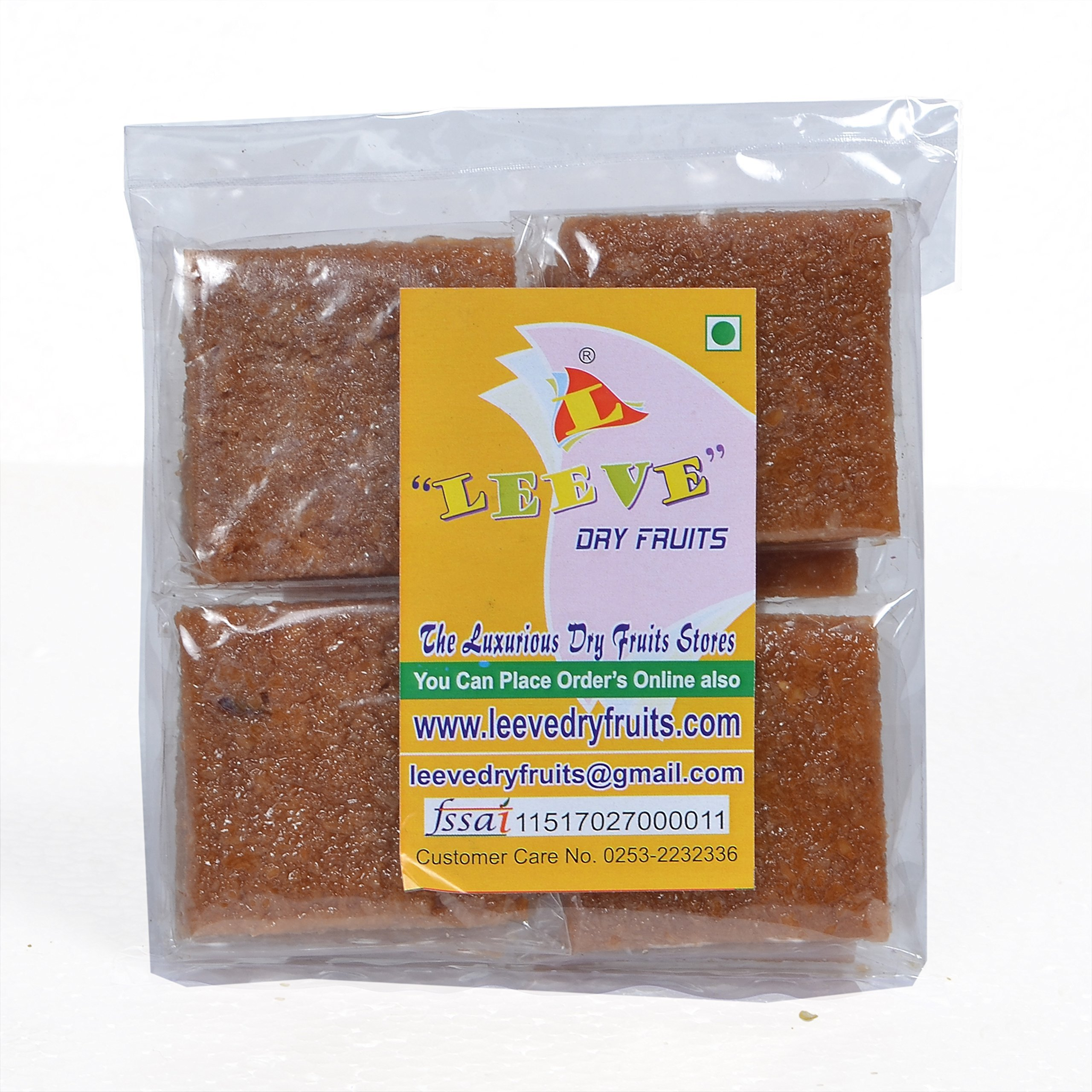 Leeve Dry Fruits Sweet Coconut Chikki - 400 Grams