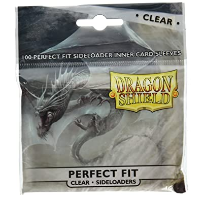 100 Dragon Shield Standard Perfect Fit Sleeves Clear/Clear SIDELOADING
