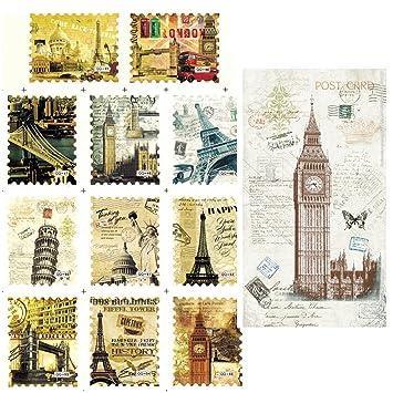 Amazon Btartbox Nail Art Stickers Vintage Famous Scenery Spot