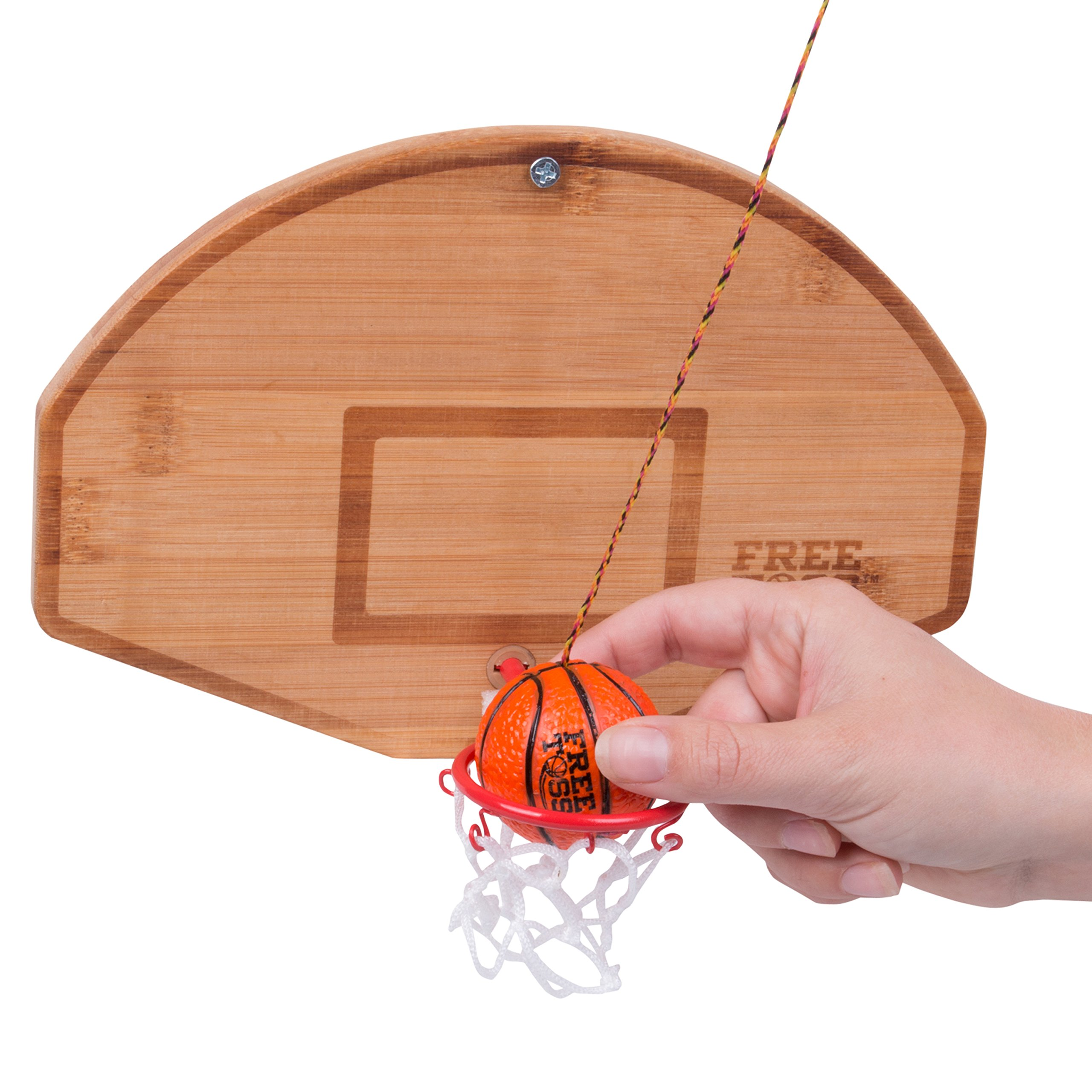 Tiki Toss Basketball and Hoop Swing Game Free Toss- Be The First to Swing A Basket 100% Bamboo Party Game (All Parts Included) by Tiki Toss