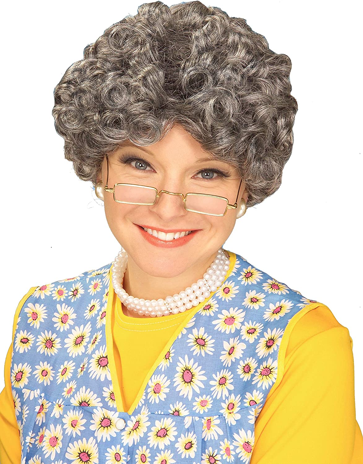 Party Hair Gray Adult Yo Mamma Old Lady Costume Wig Madea Granny