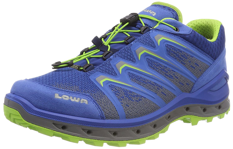Lowa Aerox GTX Lo, Botas de Senderismo para Hombre 41 EU Azul (Royal/Limone 6203)