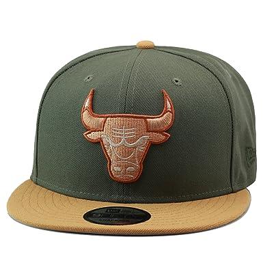 ccdb7d5f1dd New Era 9fifty Chicago Bulls Snapback Hat Cap Olive Green Wheat   Amazon.co.uk  Clothing