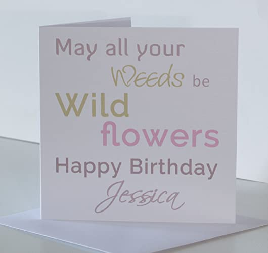 Personalised Gardener Birthday Card For Her Special Friend Mum