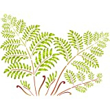 """Tree Fern Stencil - (size 20.5""""w x 15""""h) Reusable Wall Stencils for Painting - Best Quality Wall Art Décor Ideas - Use on Walls, Floors, Fabrics, Glass, Wood, Terracotta, and More…"""