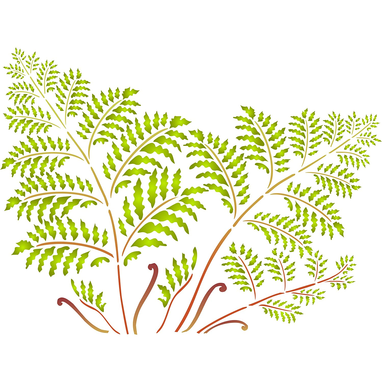 "Tree Fern Stencil - (size 20.5""w x 15""h) Reusable Wall Stencils for ..."