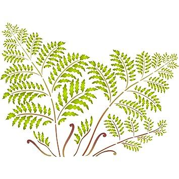 Árbol de helecho plantilla – reutilizable de pared plantillas para pintar – mejor calidad Mural decoración