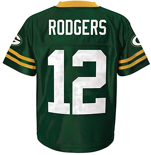 f3aeec9b1 Amazon.com  Aaron Rodgers Green Bay Packers Green Home Player Jersey ...