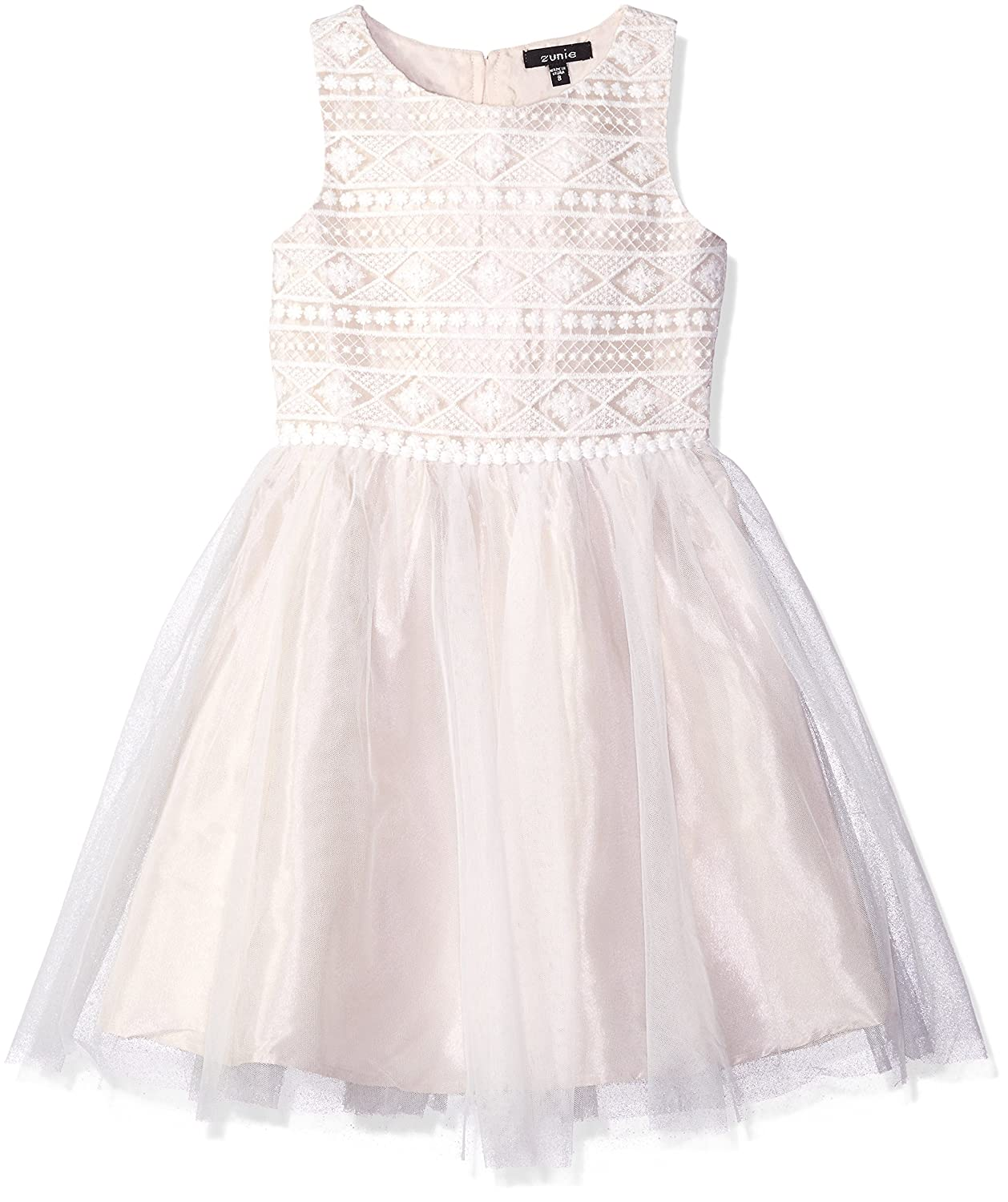 a4edc54484 Amazon.com  ZUNIE Girls  Big Sleeveless Embroidered Ballerina Dress   Clothing
