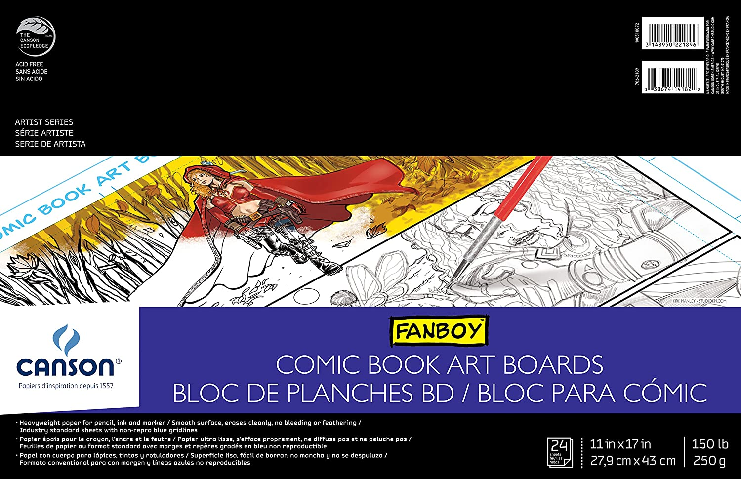 Amazon Comic Book Art Boards Pad 11X17 Cardstock Papers Wall