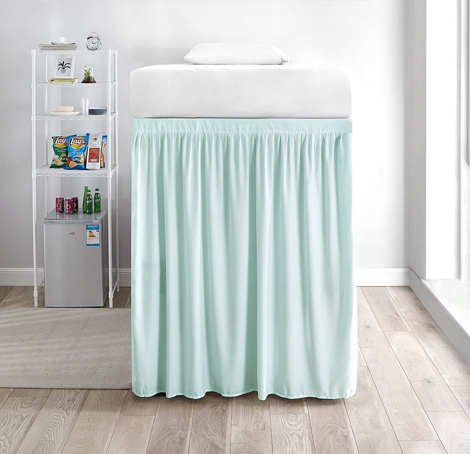 Prime Amazon Com Extended Dorm Sized Bed Skirt Panel With Ties 1 Download Free Architecture Designs Scobabritishbridgeorg