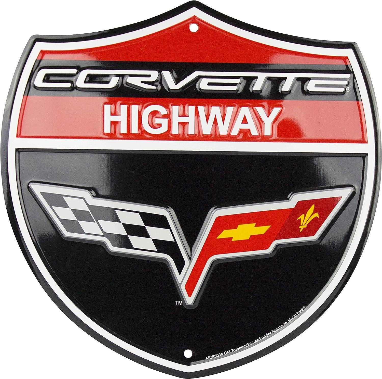 """Chevrolet Corvette Embossed 12/"""" Metal Sign"""