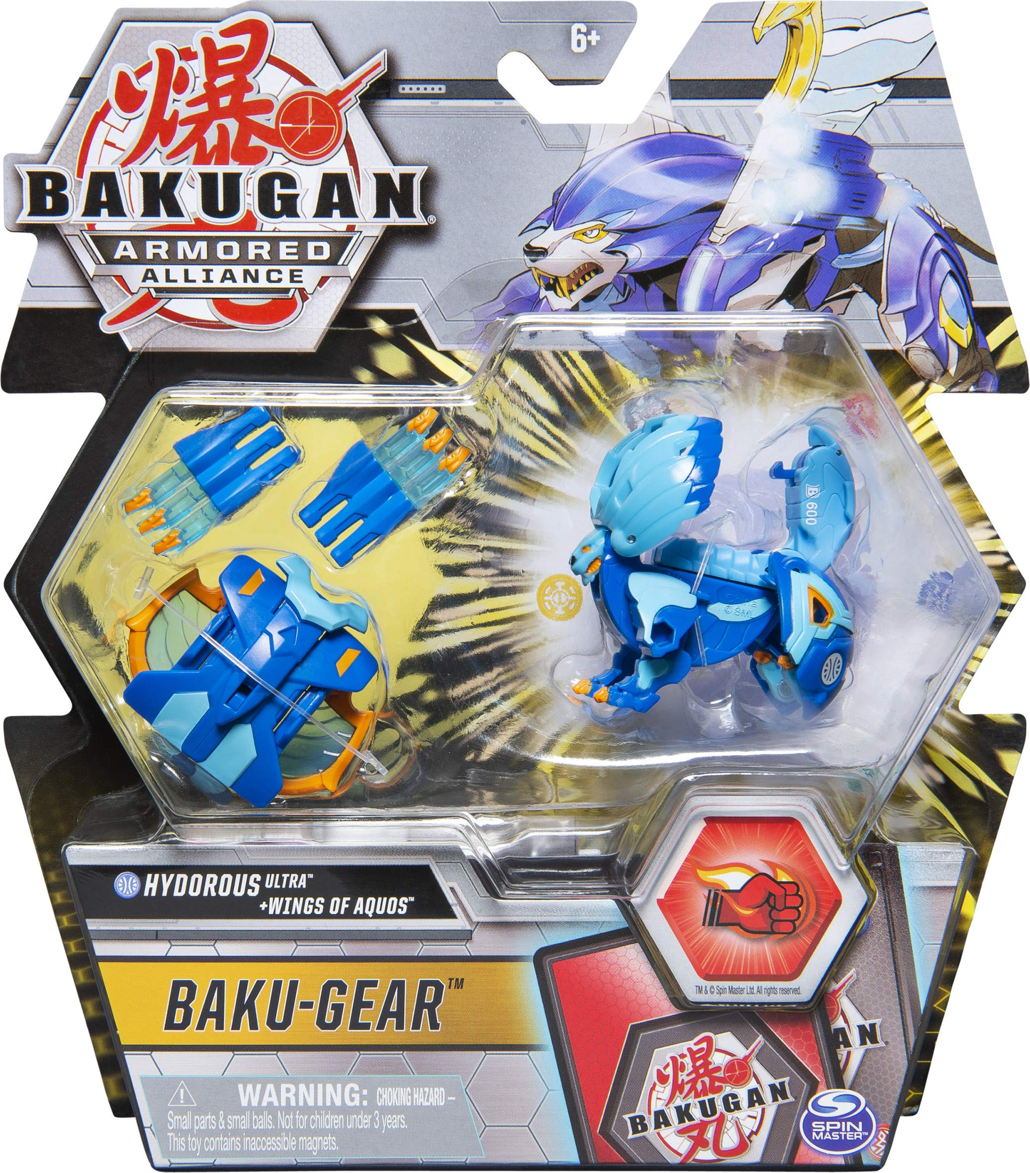 Bakugan Ultra, Hydorous with Transforming Baku-Gear, Armored Alliance 3-inch Tall Collectible Action Figure