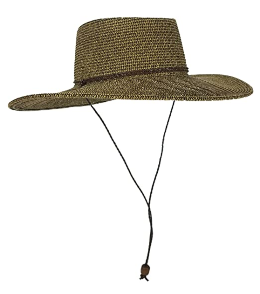 45c27861f HatQuarters Straw Gambler Bolero Cowboy Hat, Packable Wide Brimmed ...