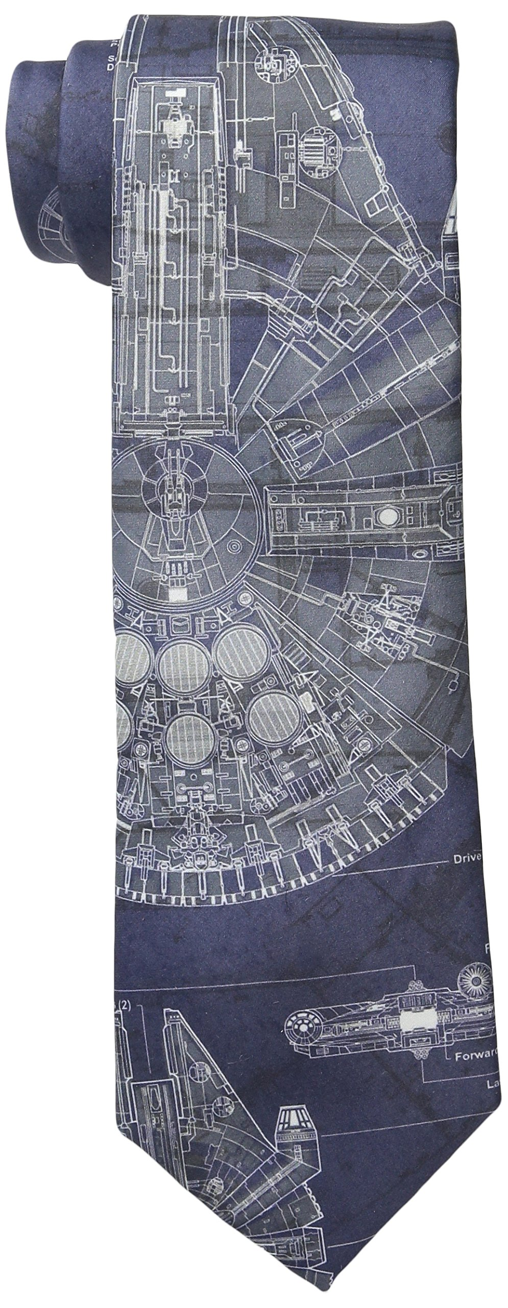 Star Wars Men's Millennium Falcon Tie, Blue, One Size