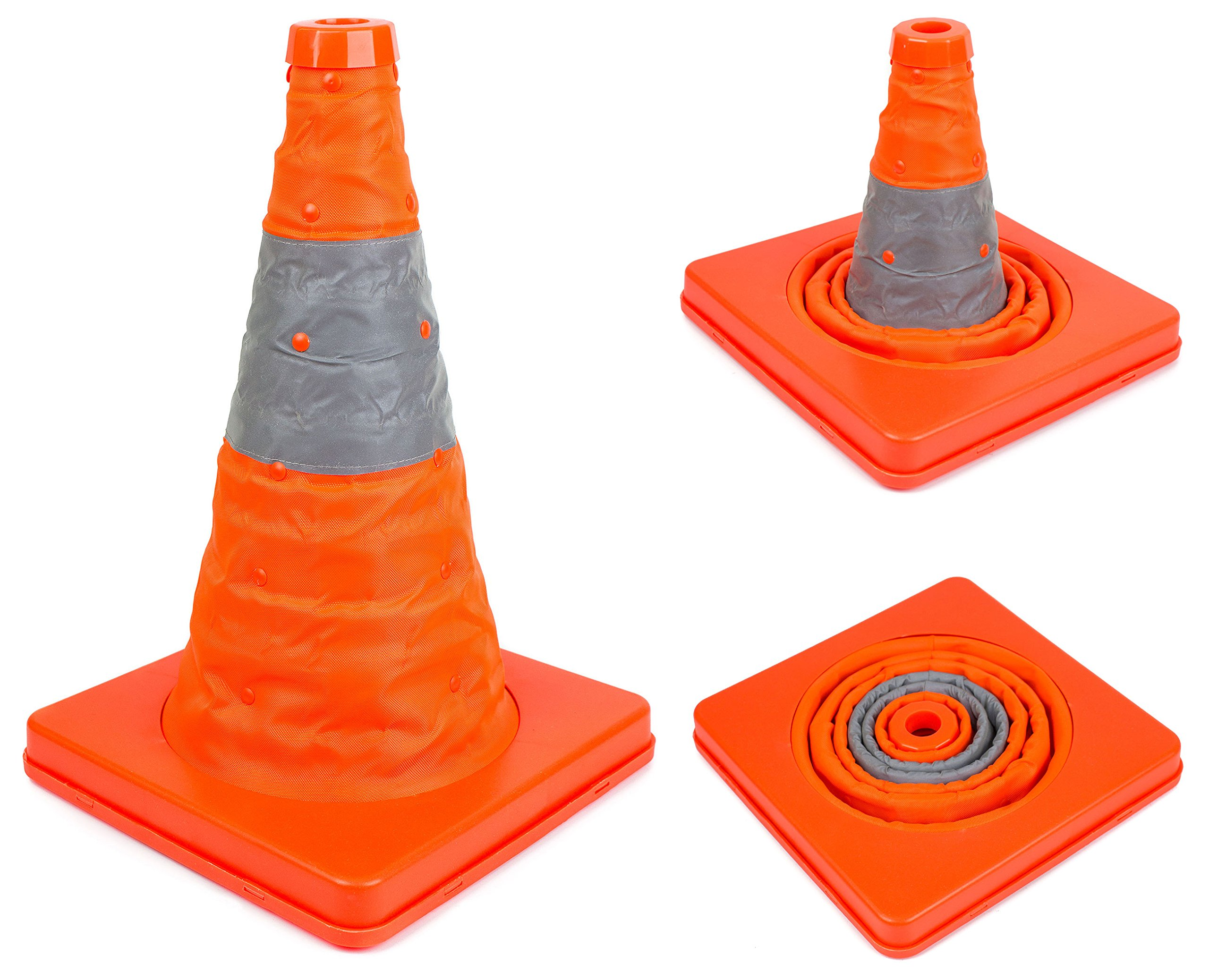 15.5'' RK Collapsible Traffic Emergency Cone ( 1-Pack)