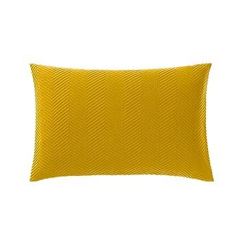 Urbanara Kissen Lixa 100 Reine Baumwolle Senfgelb Mit