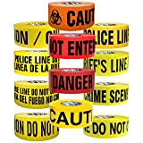 Presco Premium Printed Barricade Tape: 3 in. x 1000