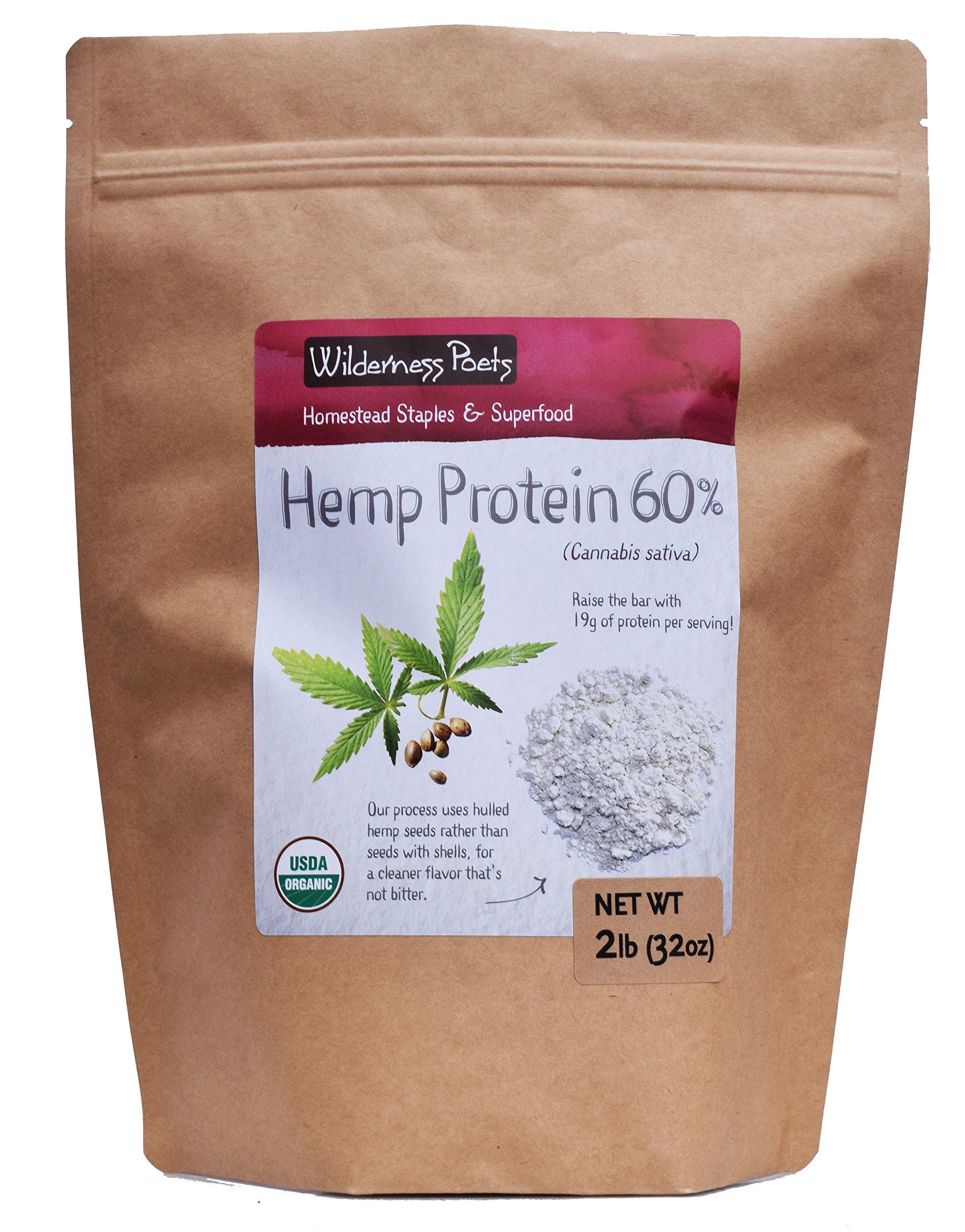 Wilderness Poets, Cold Pressed Organic Hemp Protein Powder, 19 G (32 Ounce - 2 Pound) by Wilderness Poets