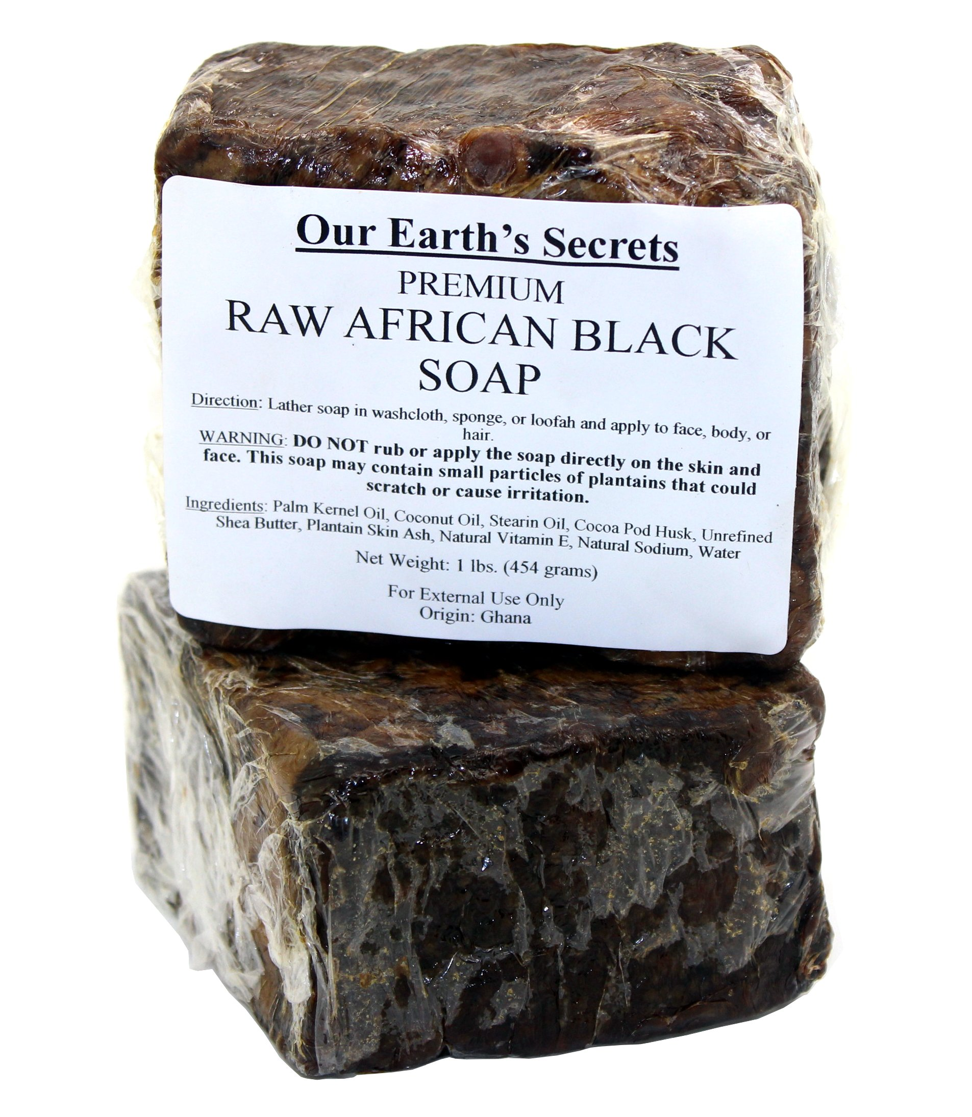 Our Earth's Secrets Raw African Black Soap, 1 lb. by Our Earth's Secrets (Image #3)
