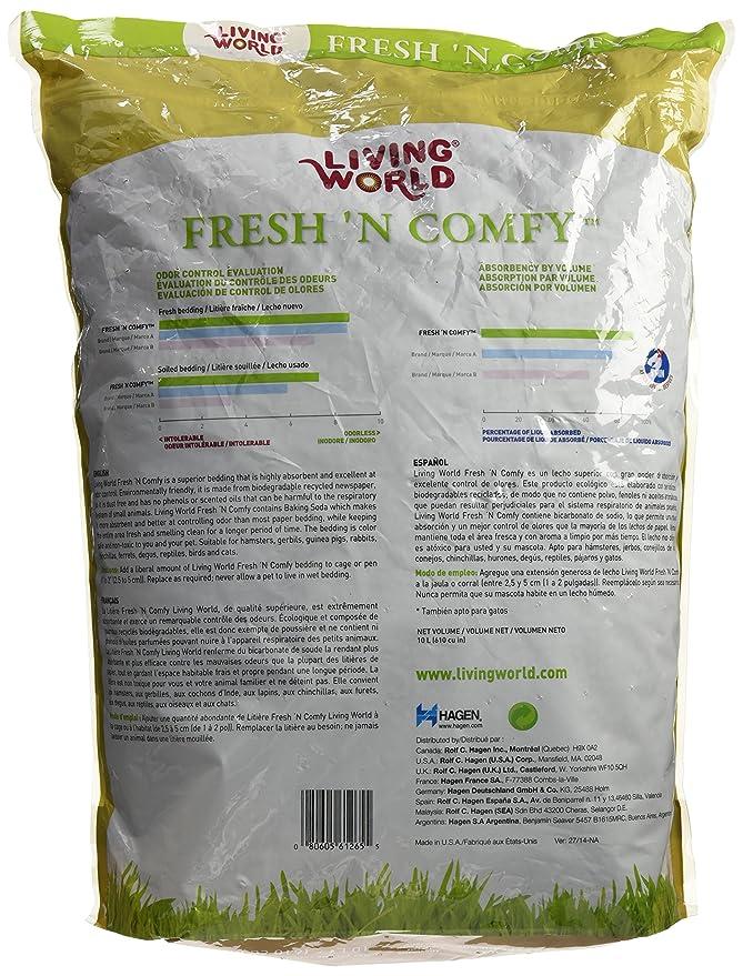 Amazon.com : Living World Freshn Comfy Bedding, 20-Liter, Tan : Pet Habitat Bedding : Pet Supplies