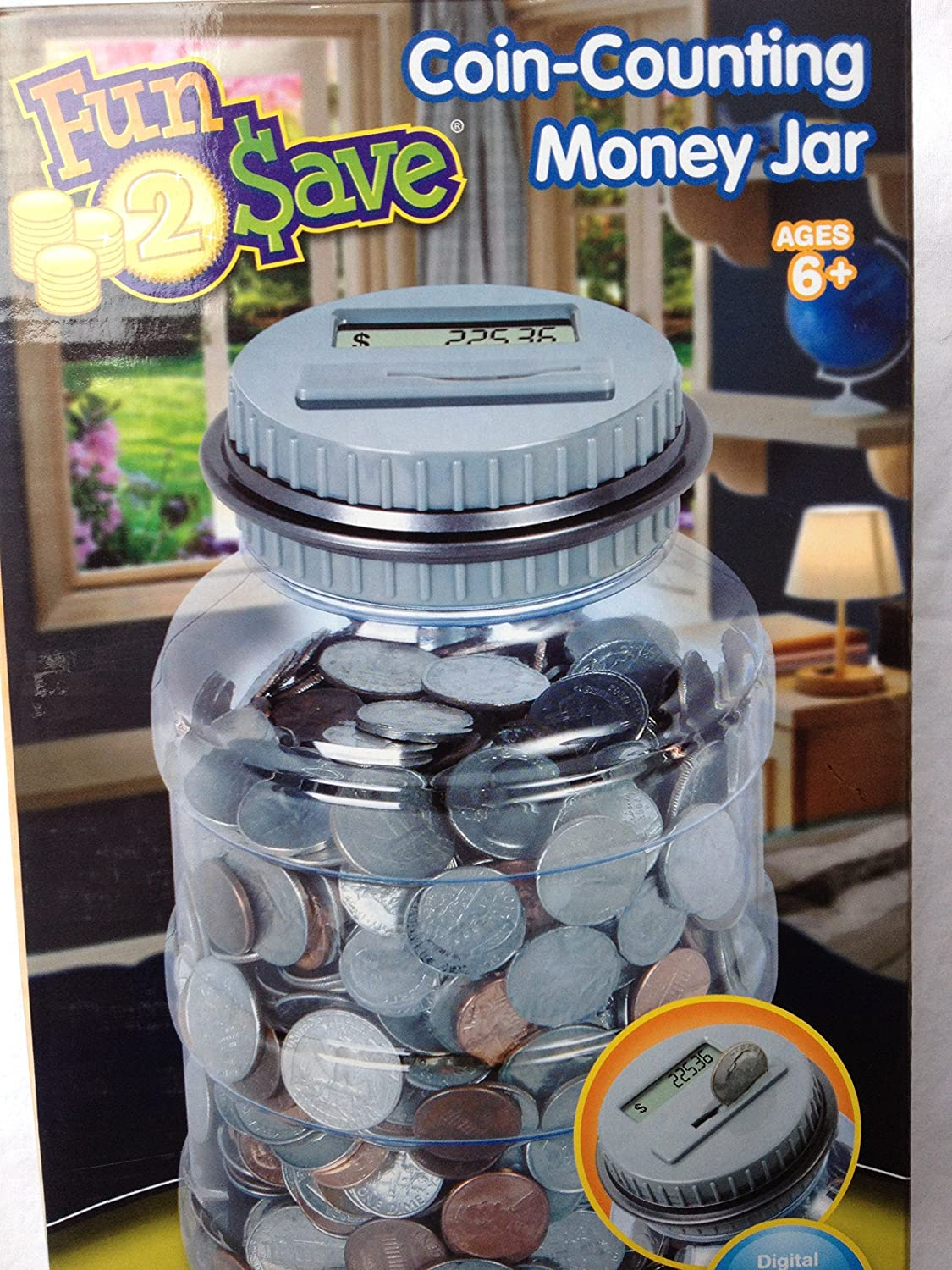 Fun2 Save Coin Money Digital Counting Counting Counting Jar bank 648fdb