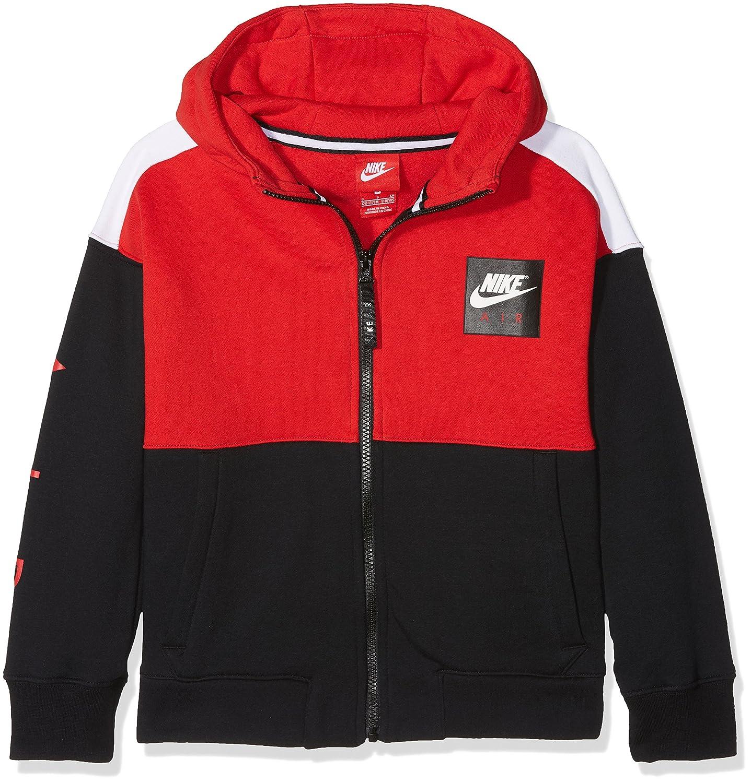 Nike Air Jungen Hoodie mit durchgehendem Reißverschluss dark grey heatherwhiteblackblack 939635 063
