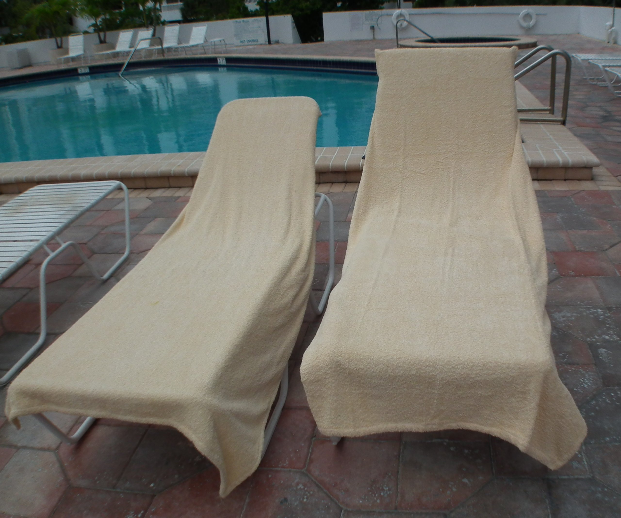 One Terry Chair Lounge Patio SPA Soft Chair Covers Hotel Spa Medium Beige. One only